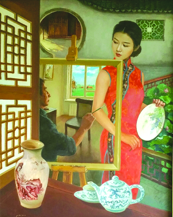 Schilderij van Yide Zhou