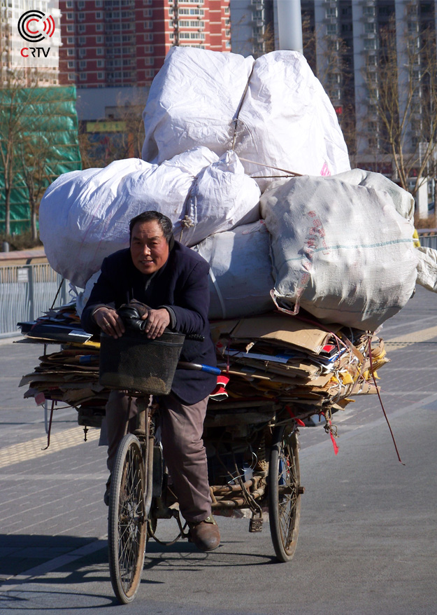 Fietsen in China - bagage