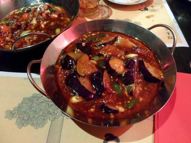 Yu xiang qiezi (鱼香茄子, Sichuan-stijl aubergine )