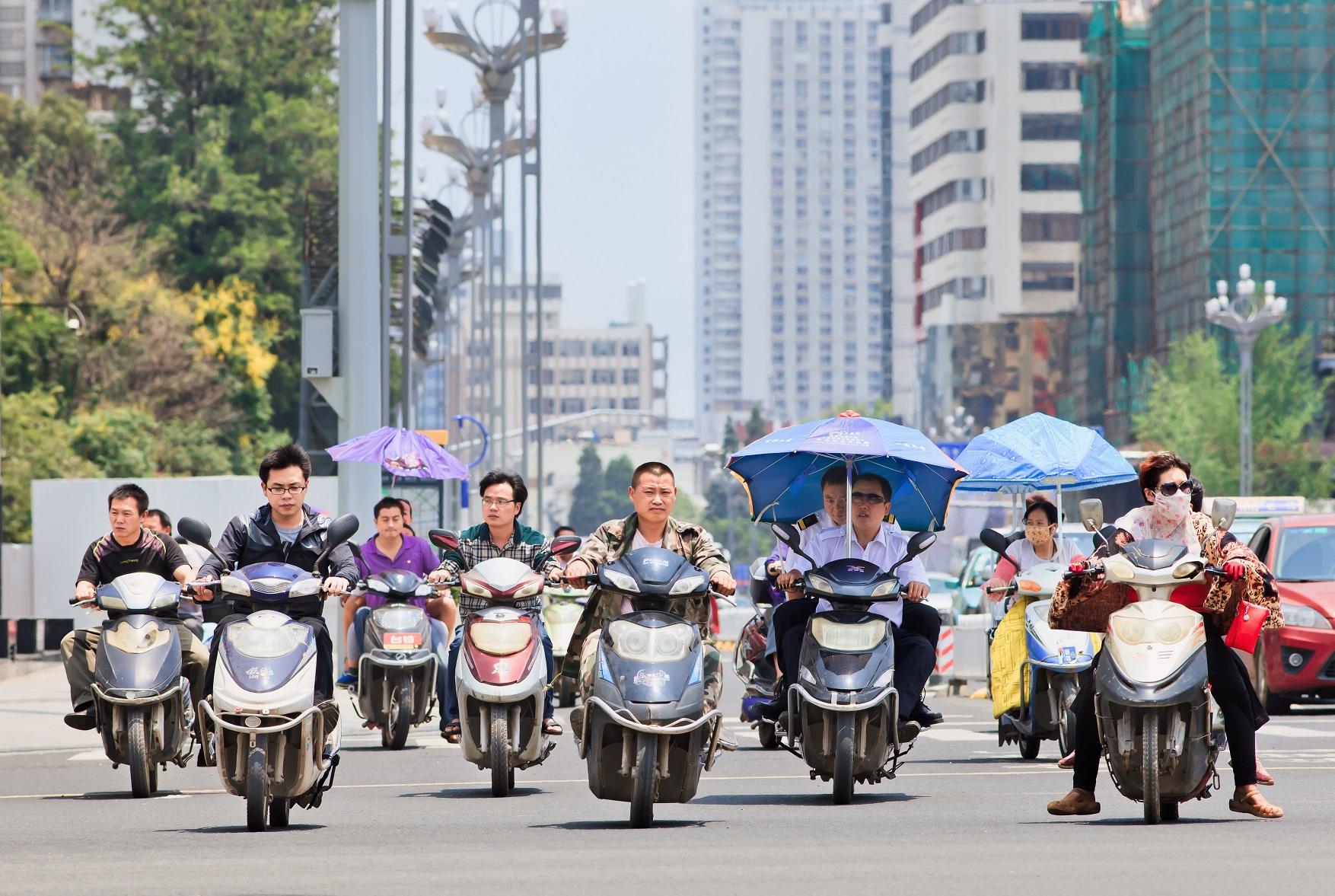 scooters op straat