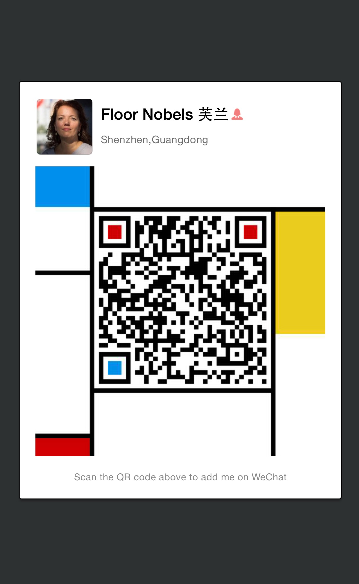 QR-code WeChat van Floor Nobels