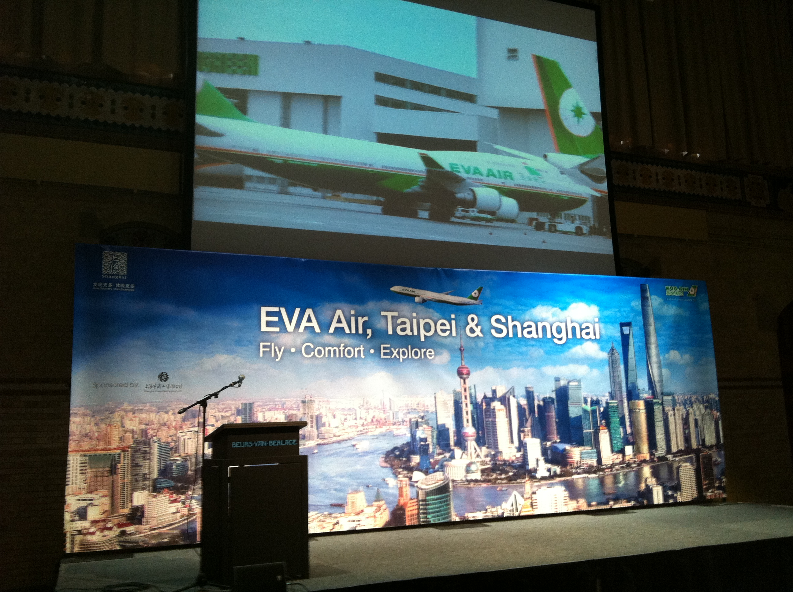 EVA Air and Shanghai