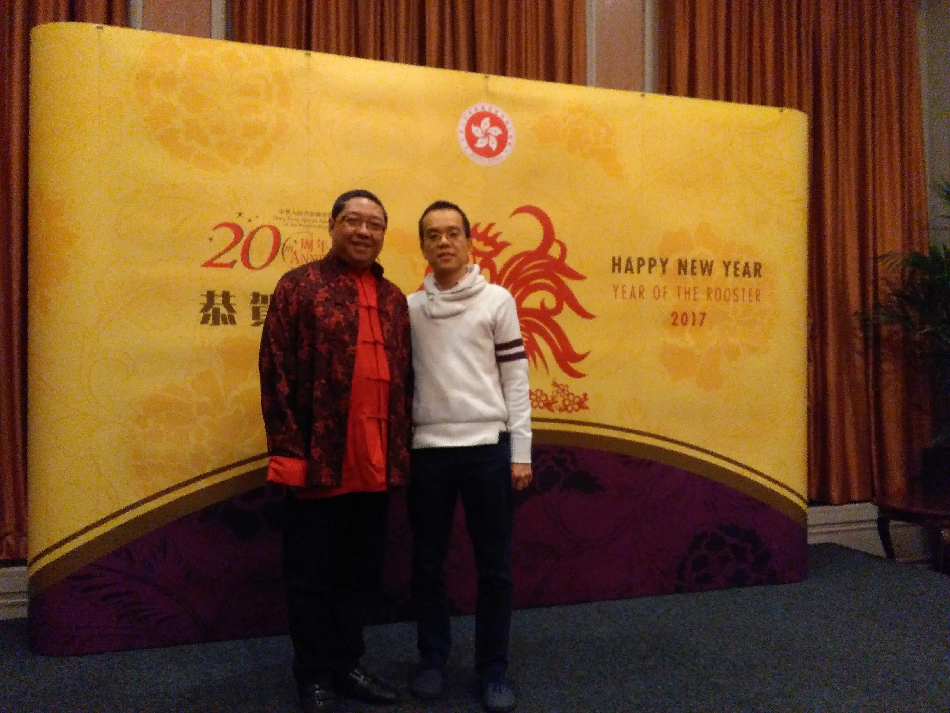 Left: Ronald Chin, Right: Hong Tong Wu (CRTV)